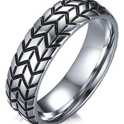 Pánský prsten jako pneumatika - 2 barvy