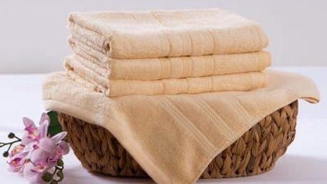 XPOSE ® Bambusová osuška SÁRA - vanilková 70x140 cm