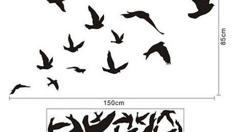 Samolepka na zeď - letící ptáci