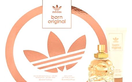 Adidas Born Original EDP dárková sada W - EDP 30 ml + tělové mléko 75 ml