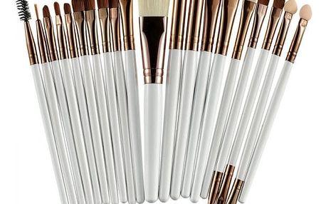 Set 20 profesionálních štětců na make up - 10 barev
