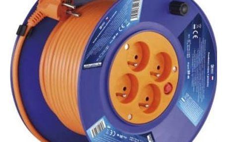 Emos P19430, PVC prodlužovací kabel na bubnu, 4 zásuvky 30m