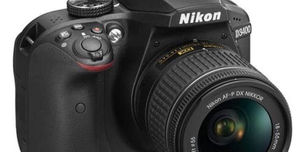 Digitální fotoaparát Nikon D3400 + AF-P 18-55 NON VR (VBA490K002) černý