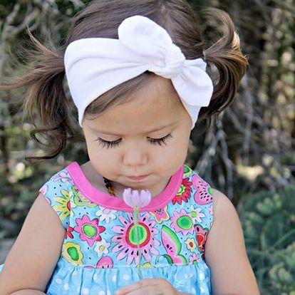 Dětská čelenka s mašličkou