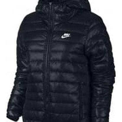 Dámská bunda Nike W NSW DWN FLL JKT HD BLACK/BLACK/WHITE