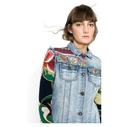 bunda Desigual Ethnic denim medium wa
