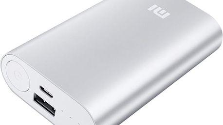 Xiaomi Power Bank 10000 mAh, stříbrná - NDY-02-AN