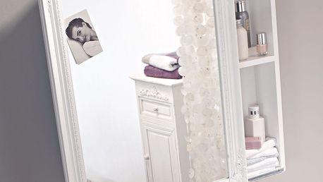 Koupelnová skříňka se zrcadlem bílá