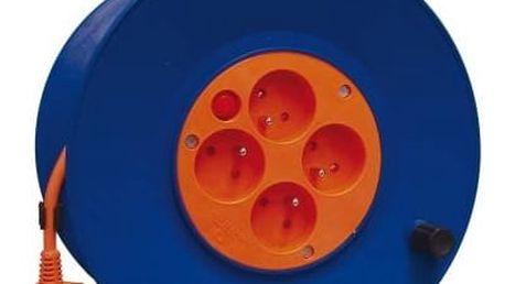 Kabel prodlužovací na bubnu EMOS 4x zásuvka, 50m (DG-4ZR-F04) oranžový