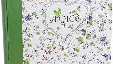 KARPEX Fotoalbum na růžky 30x30cm 100 stran Květinové pole – zelená