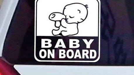 Dítě v autě - samolepka na auto
