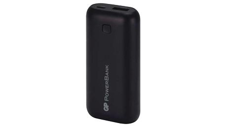 GP RC05AB, záložní zdroj 5000 mAh, USB, integrovaný USB kabel, černá - 1604305000