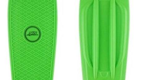 Penny board Nils Extreme Extreme zelený + Reflexní sada 2 SportTeam (pásek, přívěsek, samolepky) - zelené v hodnotě 58 Kč