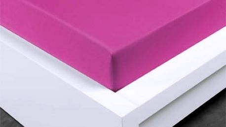 XPOSE ® Jersey prostěradlo dvoulůžko - nachová gramáž 150g/m 180x200 cm
