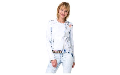 kabát Desigual Chaq Beach denim bleach