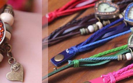 Dámské hodinky ve tvaru srdce s koženým řemínkem.Skvěle doplní každý outfit a stanou se vaším oblíbeným módním doplňkem.