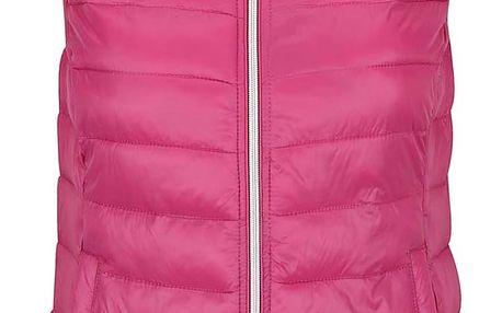 Růžová prošívaná vesta VERO MODA Soraya