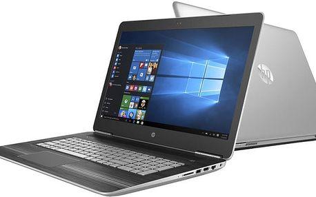 HP Pavilion Gaming 17 (17-ab201nc), stříbrná - 1GM90EA + Kupon na hru ROCKET LEAGUE, platnost od 30.5.2017 - 25.9.2017 + Intel Summer 2017, 4K content and creativity bundle