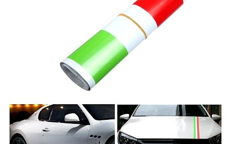 Samolepka na auto - italská vlajka