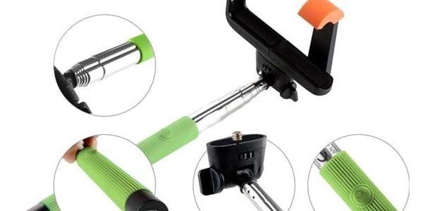 GoGEN 2 Selfie tyč teleskopická, bluetooth, zelená - GOGBTSELFIE2G