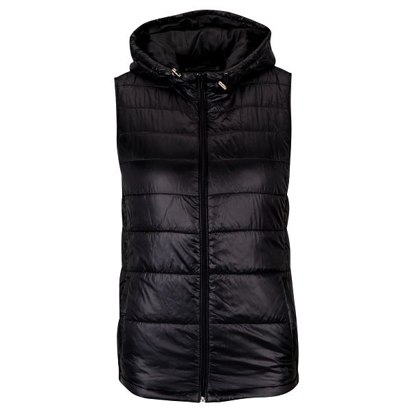 Černá prošívaná vesta s kapucí Haily´s Dora