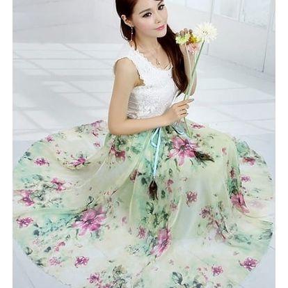 Dámská květinová maxi sukně - dodání do 2 dnů