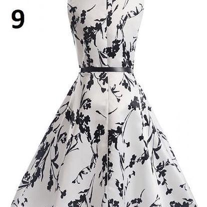 Dámské květinové šaty - varianta 9 - velikost č. 5
