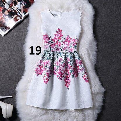 Dámské šaty bez rukávů s motivy přírody - varianta 19, velikost 3
