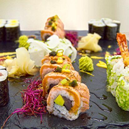 Sushi set s tuňákem, lososem i krevetami pro 2