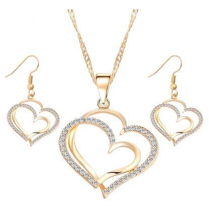 Sada šperků s motivem srdce - 2 barvy