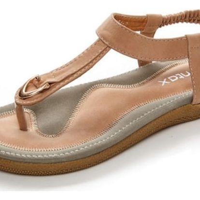 Pohodlné a měkké dámské sandály - světle hnědá, vel. 41