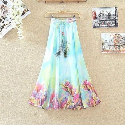 Lehká dlouhá letní sukně - varianta 18