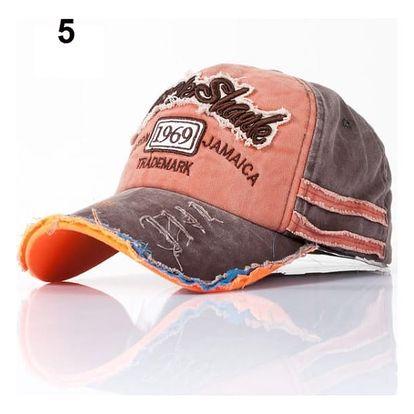 Letní baseballová čepice v módním otrhaném stylu - varianta 5