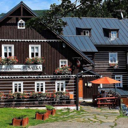 Penzion Rusalka v Krkonoších s polopenzí, vířivkou a saunou