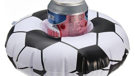 Plovoucí fotbalový míč na plechovku