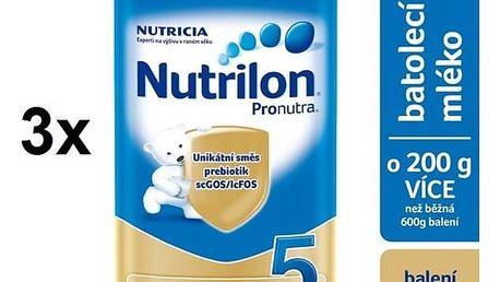 Kojenecké mléko Nutrilon 5 Pronutra, 800g x 3ks + DÁREK + Doprava zdarma