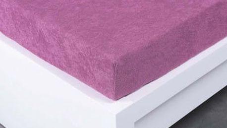 XPOSE ® Froté prostěradlo Exclusive dvoulůžko - šeříková 200x200 cm