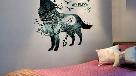 Samolepka na zeď - Wolf Moon