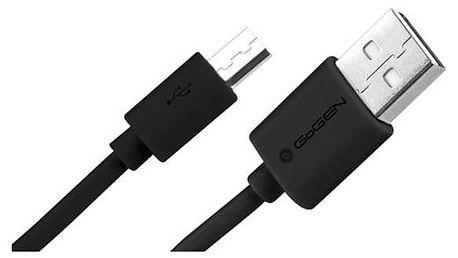 Kabel GoGEN MicroUSB, 2m (MICUSB 200 MM12) černý + Doprava zdarma