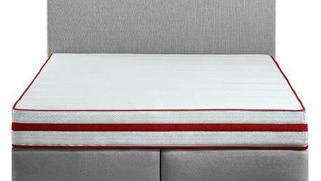 Toronto - 200x180, matrace s 3D mřížkou (luna 31/nožky ořech)