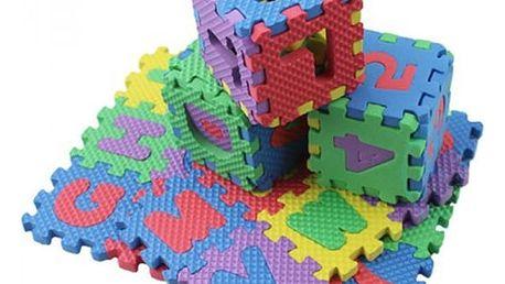Pěnové puzzle s písmenky a čísly pro děti - 36 dílů