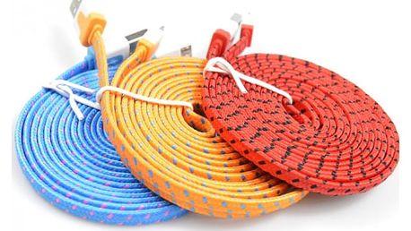 Datový a nabíjecí kabel pro iPhone 5 a 6 - Světlá modrá - 3m