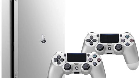 PlayStation 4 Slim, 500GB, stříbrná + 2x DS4 - PS719848769 + Hra Horizon: Zero Dawn v ceně 1700 kč