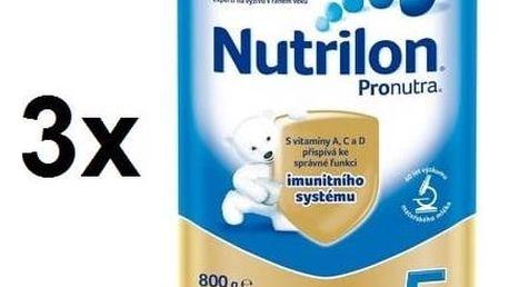 Kojenecké mléko Nutrilon 5 Pronutra, 800g x 3ks + Doprava zdarma