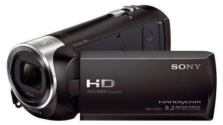 Videokamera Sony HDR-CX240E černá + Doprava zdarma