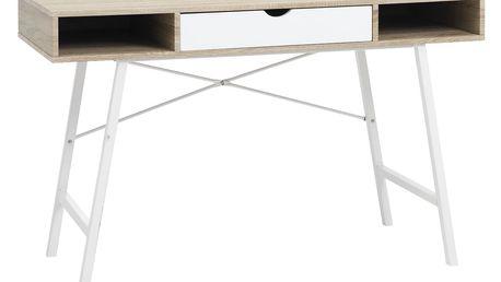 PC stůl STUDENT dub/bílá