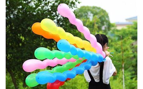Barevné balónky Spirály 10 ks