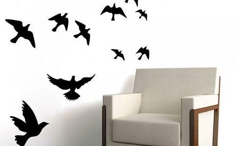 Samolepka na zeď ve tvaru létajících ptáčků