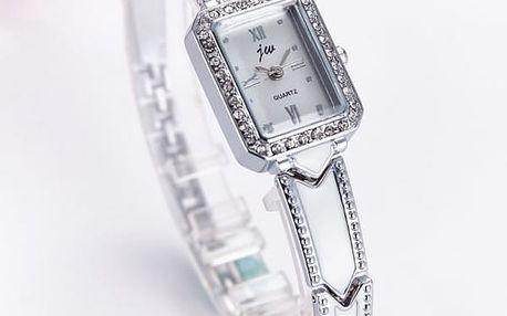 Dámské hodinky s obdélníkovým ciferníkem - 2 barvy