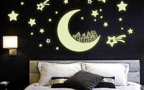 Svítící samolepka na zeď Hvězdná obloha